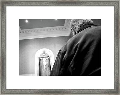 Communion Line Framed Print