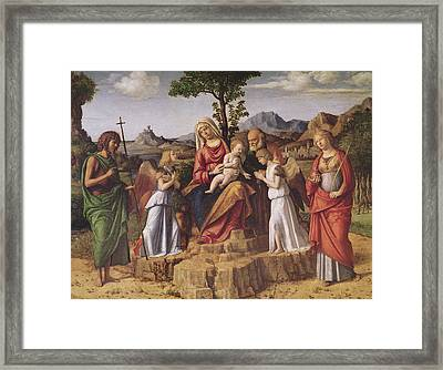 Holy Conversation Framed Print