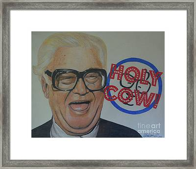 Holy Cow Framed Print by Melissa Goodrich