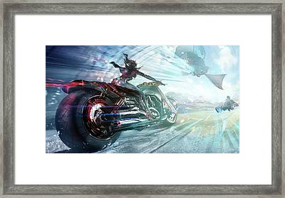 Holy Crap That Is Fast. Framed Print by Lawrence Christopher