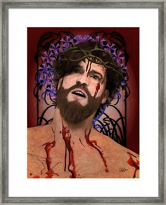Holy Face Of Ecce Homo Framed Print by Joaquin Abella
