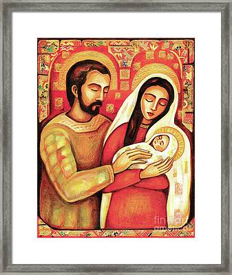 Framed Print featuring the painting Holy Family by Eva Campbell