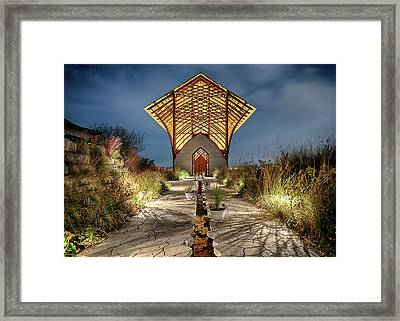 Framed Print featuring the photograph Holy Family Shrine by Susan Rissi Tregoning
