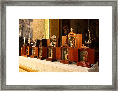 Holy Family Shrines  Framed Print by Gaspar Avila
