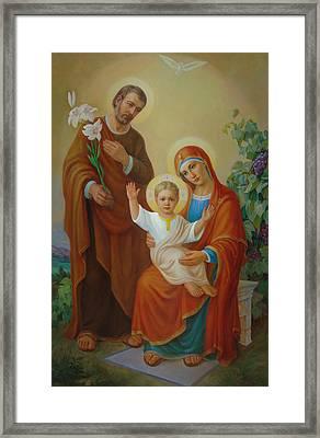 Holy Family With The Vine Tree Framed Print by Svitozar Nenyuk