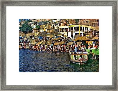Holy Ganges Framed Print by Steve Harrington