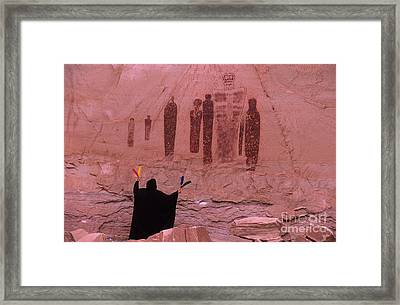 Holy Ghost Petroglyph Into The Mystic Framed Print by Bob Christopher
