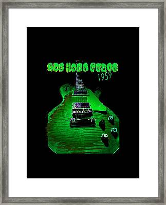 Framed Print featuring the photograph Holy Grail 1959 Retro Relic Guitar by Guitar Wacky