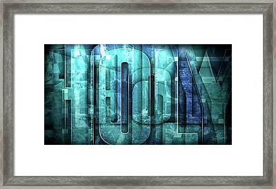 Framed Print featuring the mixed media Holy Holy Holy by Shevon Johnson