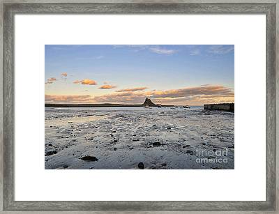 Holy Island Of Lindisfarne Framed Print by Nichola Denny
