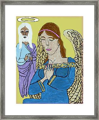 Holy Jesus Praise The Lord Framed Print by Betty  Roberts