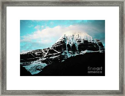 Holy Kailas East Slop Himalayas Tibet Yantra.lv Framed Print