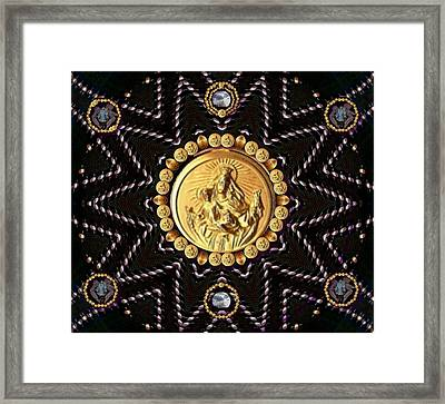 Holy Madonna Mary Mother Of Jesus And Blessed Virgin Mary Framed Print by Pepita Selles