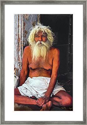 Holy Man 2 - Paint Framed Print