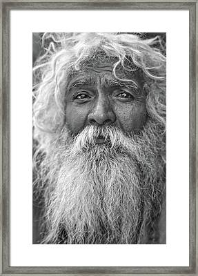 Holy Man - Such A Long Journey Bw Framed Print