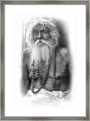 Holy Man - Vignette Bw Framed Print by Steve Harrington