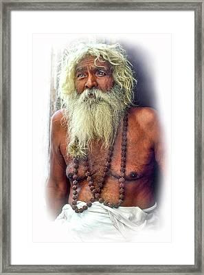 Holy Man - Vignette Framed Print by Steve Harrington