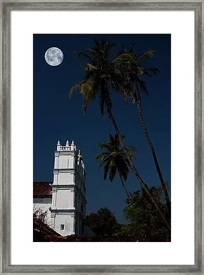 Holy Moon Framed Print by Sydney Alvares
