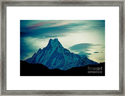 Holy Mount Fish Tail Machhapuchare 6998m Framed Print by Raimond Klavins