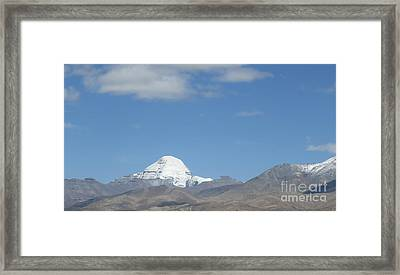 Holy Mount Kailash, Tibet Framed Print by Mikhael van Aken