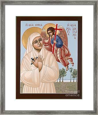 Holy New Martyr Mary Antoinette Daughter Of Wisdom 109 Framed Print