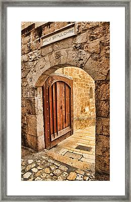 Holy Sepulchre Entrance Framed Print by Stephen Stookey