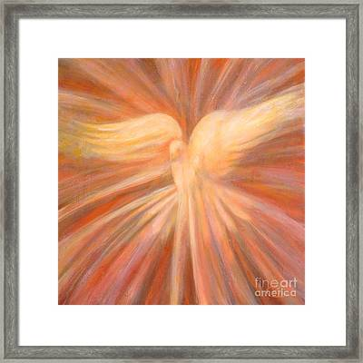 Holy Spirit Appearing As A Dove Framed Print by Kip Decker