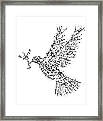 Holy Spirit Calligram Framed Print