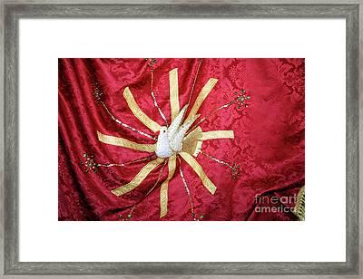 Holy Spirit Flag Framed Print by Gaspar Avila