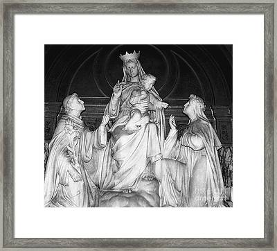 Holy Statues Framed Print by Kathleen Struckle