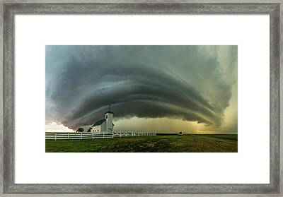 Framed Print featuring the photograph Holy Supercell  by Aaron J Groen