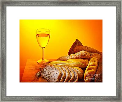 Holy Supper Framed Print by Anna Om