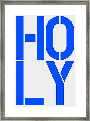 Holy Framed Print by Three Dots