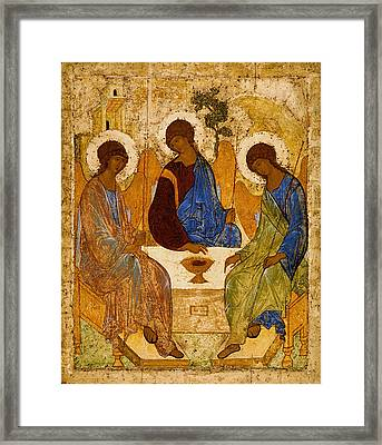 Holy Trinity Andrei Rublev Framed Print