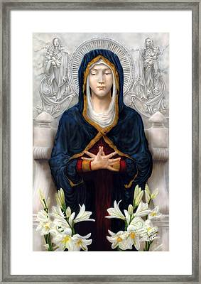 Holy Woman Framed Print