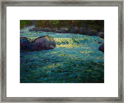 Holyford Water Framed Print