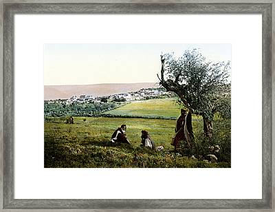 Holyland - Cana Of Galilee  Framed Print by Munir Alawi