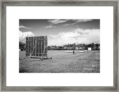 Holywood Cricket Club Pitch Northern Ireland Framed Print