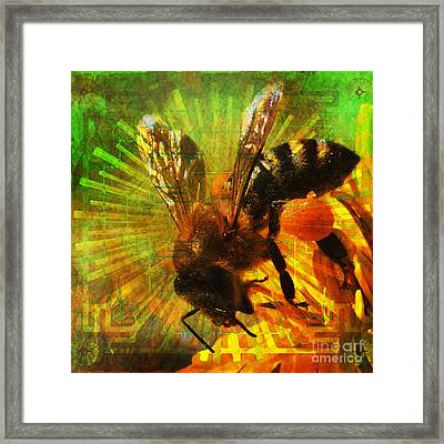 Homage To A Bee 2015 Framed Print