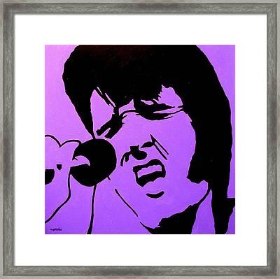 Homage To Elvis Framed Print by John  Nolan