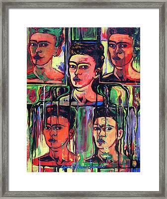 Homage To Frida Kahlo Framed Print