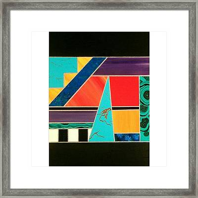 Homage To Inlay Framed Print
