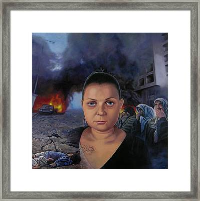 Homage To Layal Nagib Framed Print by Miguel Tio