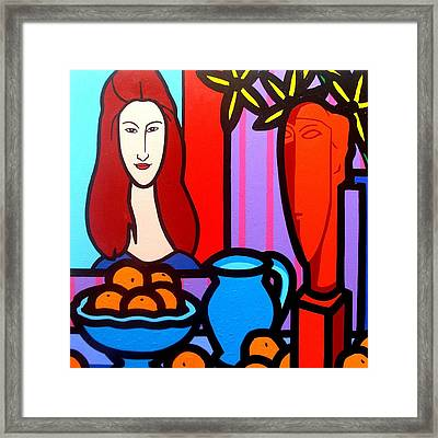 Homage To Modigliani II Framed Print