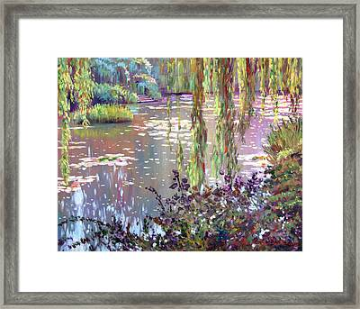 Homage To Monet Framed Print by David Lloyd Glover