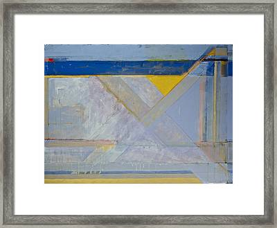 Framed Print featuring the painting Homage To Richard Diebenkorn's Ocean Park Series  by Cliff Spohn