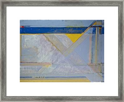 Homage To Richard Diebenkorn's Ocean Park Series  Framed Print