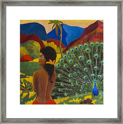 Homage To Paul Gauguin Framed Print