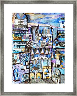 Homage To Paul Klee Framed Print by Mindy Newman