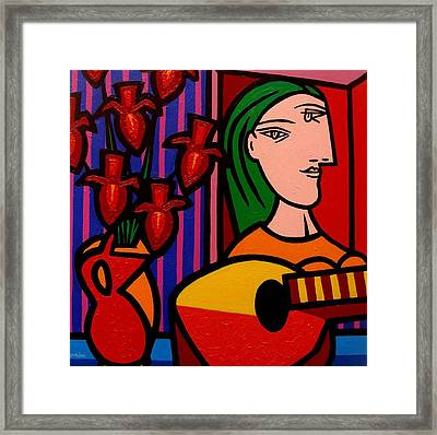 Homage To Picasso Framed Print by John  Nolan